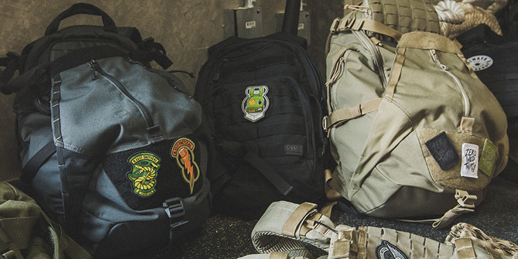 patches on bags