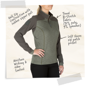 Women's Rapid Half Zip
