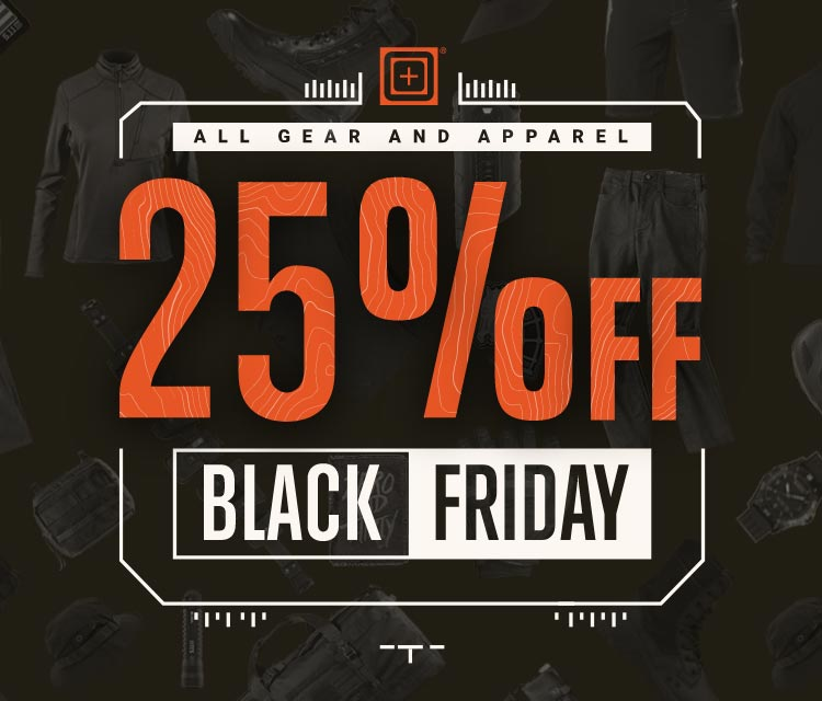 All gear and apparel 25% off on black friday