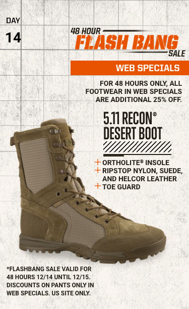 48 Hour Flash Bang Sale: 25% OFF FOOTWEAR - WEB SPECIALS