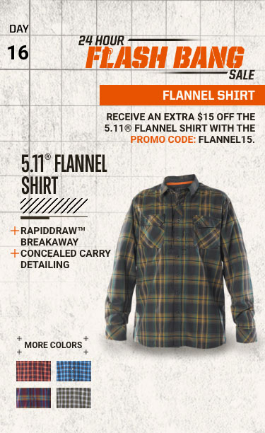 24 Hour Flash Bang Sale: FLANNEL SHIRT