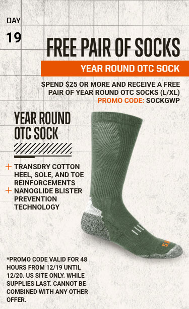 FREE PAIR OF SOCKS - YEAR ROUND OTC SOCK