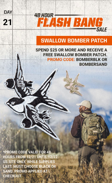 48 Hour Flash Bang Sale: - SWALLOW BOMBER PATCH