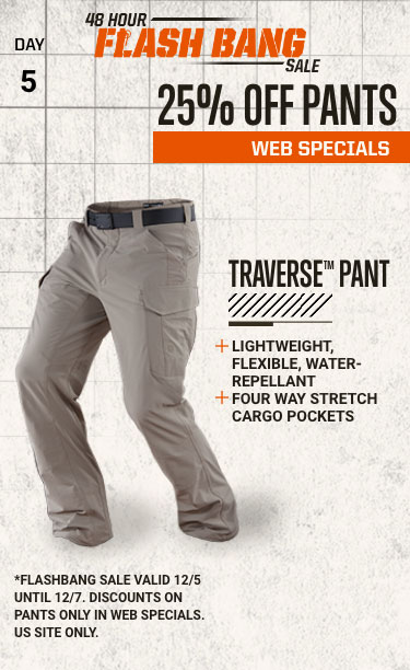 48 Hour Flash Bang Sale: 25% off pants - Web Specials