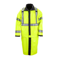 New Long Reversible High Vis Rain Coat