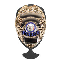 Shield Badge Holder Knife