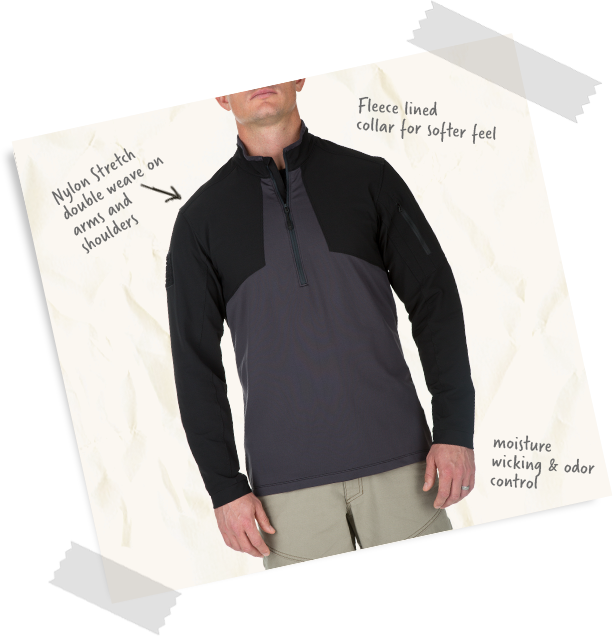 Men's Thunderbolt Half Zip