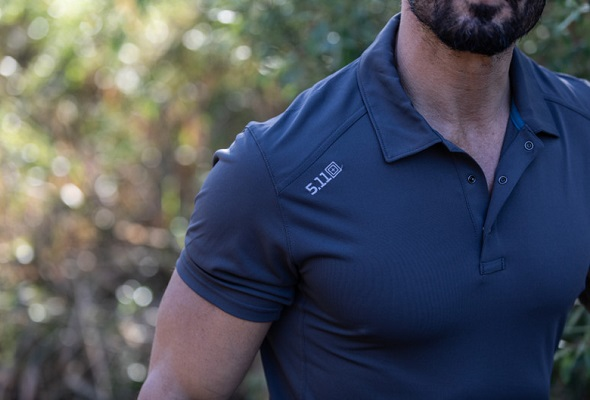 5.11 Tactical makes polos and shirts designed for warm weather conditions